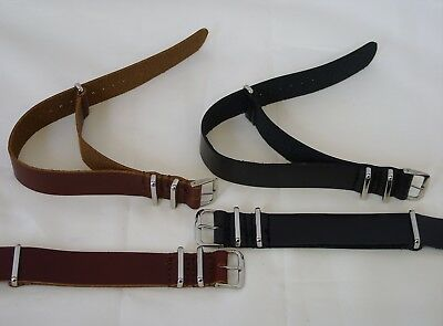 £9.99 • Buy Genuine Leather Military Army MOD Nato Style Watch Strap Band For G10