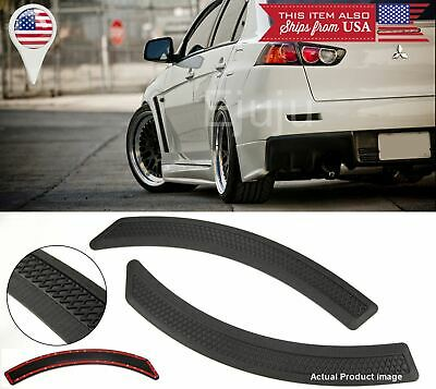 $18.99 • Buy Pair Black Carbon Effect Evo 10 Side Fender Flare Vent Cover For Mitsubishi