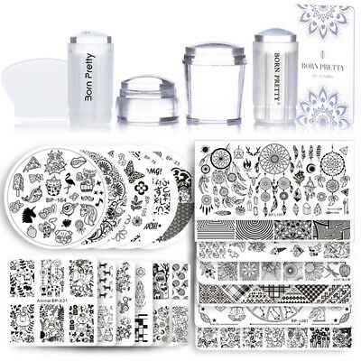 $20.99 • Buy BORN PRETTY Nail Art Sets Stamping Plates Stamper Scraper Print Tools Christmas