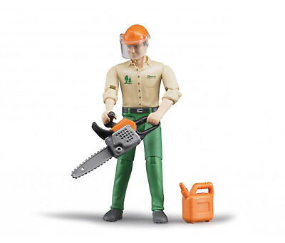 £12.99 • Buy Bruder Toys 60030 Forestry Worker With Chainsaw + Fuel Can Movable Limbs & Head