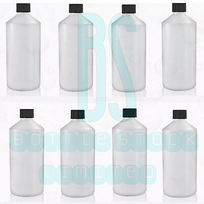 £7.29 • Buy Plastic Bottles Natural HDPE With Wadded Screw Top Lid 500ml