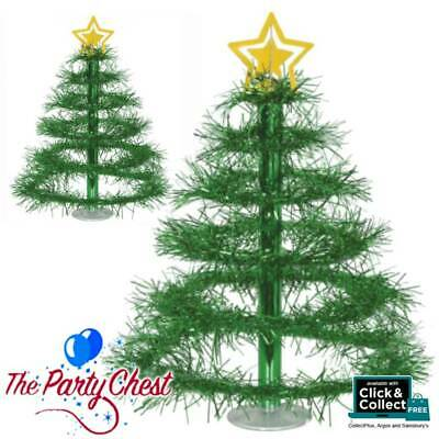 16  CHRISTMAS TREE TINSEL TABLE CENTREPIECE Xmas Party Table Decoration 20808 • 7.75£