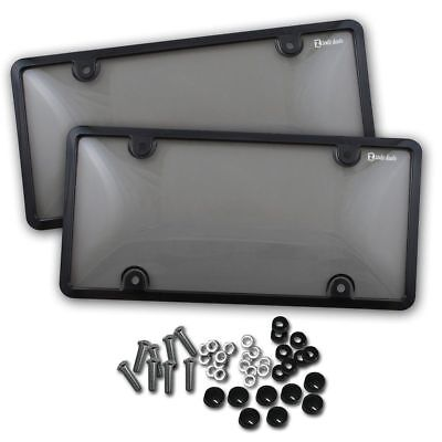 $10.99 • Buy Zento Deals 2x License Plate Tag Shield Cover And Car Frame Clear Tinted Smoked
