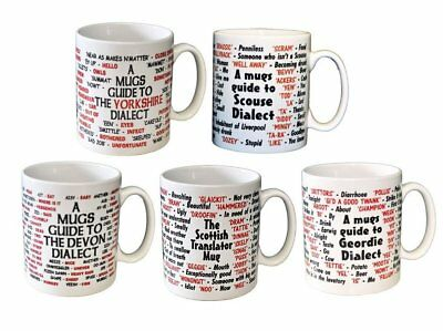 Dialect Funny Ceramic Mugs Cornish Devon Geordie Yorkshire Scouse Scottish • 8.99£