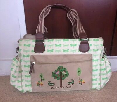£15 • Buy Pink Lining Yummy Mummy Twice As Nice Dragonflies Twins Changing Bag
