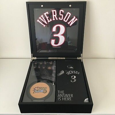 $4000 • Buy BRAND NEW - MITCHELL & NESS X ENTERBAY - ALLEN IVERSON - HOF COLLECTOR'S BOX