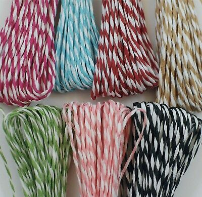 £3.95 • Buy Red White STRIPED String LIKE BAKERS TWINE Raffia Christmas Wrapping PRESENT