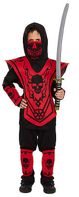 £9.79 • Buy Boys Ninja Warrior Child Fancy Dress Dressing Up Outfit Costume Age 4-12 Yrs New