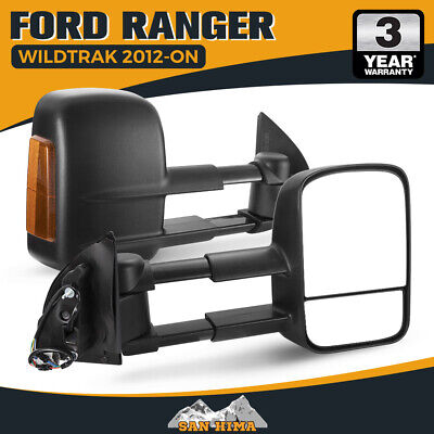 AU349.95 • Buy Towing Mirrors For Ford Ranger Wildtrak Raptor MK PX PX2 PX3 XL XLT XLS 2012-ON