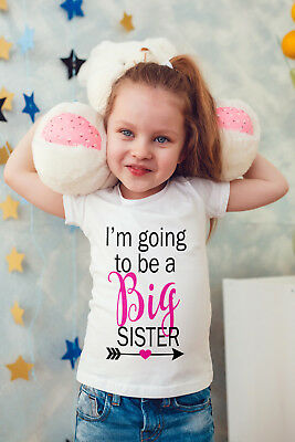 I'm Going To Be A Big Sister Baby/Vest Or Tshirt - Pregnancy Announcement • 7.80£