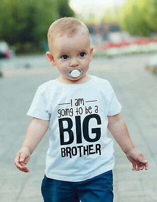 I'm Going To Be A Big BROTHER  Baby Vest Or Tshirt Pregnancy Announcement • 7.80£