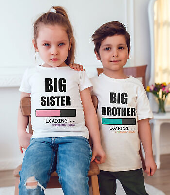 I'm Going To Be A Big Sister/big Brother  Children T Shirt Announcement Idea  • 7.80£