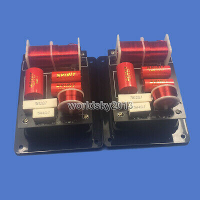 $ CDN53.35 • Buy 2pcs SP60 2 Way 2 Unit Speaker Frequency Divider Crossover Filters Junction Box