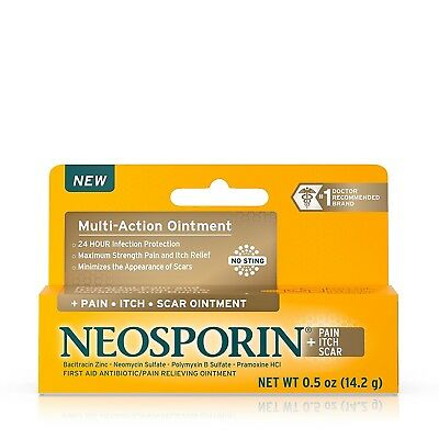 £8.27 • Buy Neosporin + Pain, Itch, Scar Antibiotic Ointment, 0.5 Oz