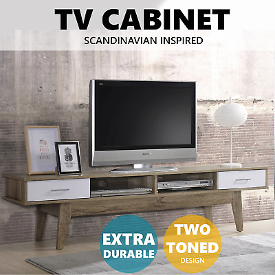 AU204.75 • Buy NOBU TV Stand Entertainment Unit 180cm Cabinet Storage Drawers Scandinavian