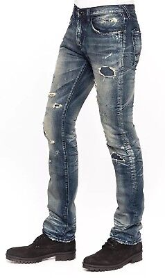 NWT PRPS BARRACUDA Ripped Repaired Straight Jeans Indigo Sz 34 $395 • 85.86£