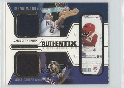 AU5.97 • Buy 2003 Fleer Authentix Jersey Game Of The Week Ripped Kenyon Martin Vince Carter