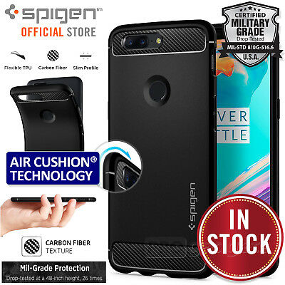 AU19.99 • Buy Genuine Spigen Rugged Armor Resilient Ultra Soft Cover For OnePlus 5T Case