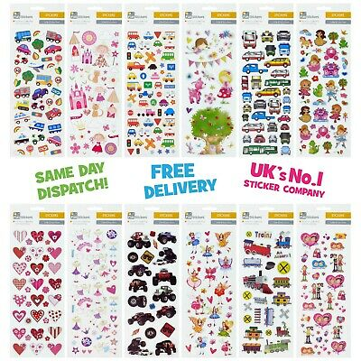 Fun Stickers Children Birthday Party Loot Bag Fillers Kids Decorating Pack A • 1.99£