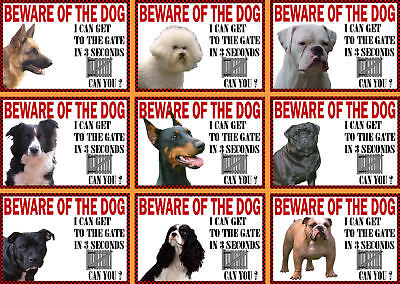 £3.30 • Buy Beware Of The Dog Sign Gate In 3 Seconds Various Breeds Set B