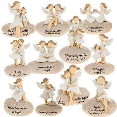 £10.25 • Buy Angel Stones Figurine Ornament Gift Home Decoration Fairy Stone Message