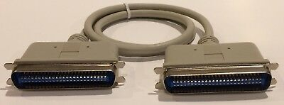 $7.50 • Buy SCSI Cent 50 Male To Male 3 Ft Cable Molded Ends