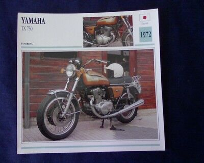 AU6.95 • Buy Yamaha TX750, TX 750 Specifications Sheet, Collectors Card