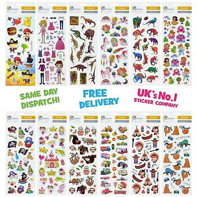 Fun Stickers Children Birthday Party Loot Bag Fillers Kids Decorating Pack D • 1.99£