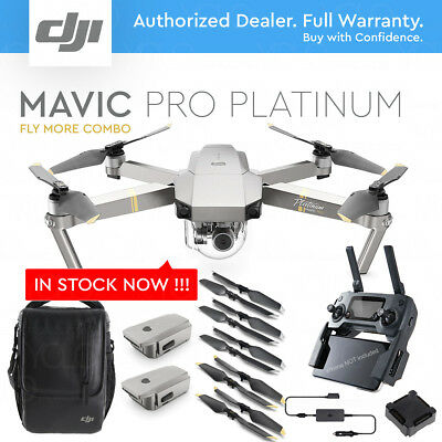 AU1677.86 • Buy DJI MAVIC PRO PLATINUM W/ 4K Stabilized Camera. FLY MORE COMBO