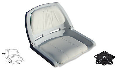 $ CDN85.99 • Buy Fold Down Boat Seat Boat Folding Chair Molded Fishing Seat With Swivel