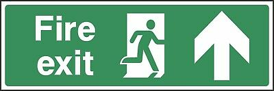 Fire Exit Ahead Sign [V6EMER0007] Emergency Escape Building Office Shop Safety • 0.99£
