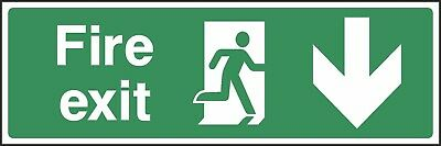 Fire Exit This Way Sign [V6EMER0008] Emergency Escape Building Office Safety • 0.99£