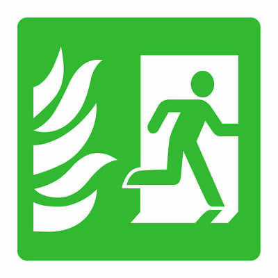 Fire Escape Door Right Sign [V6EMER0056] Emergency Escape Building Safety • 0.99£