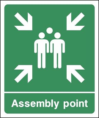 Emergency Fire Assembly Point Sign [V6EMER0075] Emergency Escape Building Safety • 0.99£