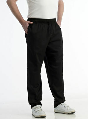 £11.49 • Buy Black Chef Trousers Chef Pants Chef Catering Uniform Elasticated Waist Brand New