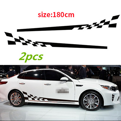 $20.29 • Buy 2Pcs Car Decal Vinyl Graphics Side Stickers Body Decals Generic Stickers Black
