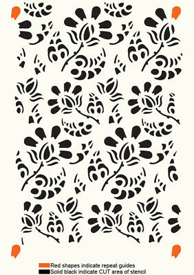 Lace Stencil Floral Allover Pattern Paint Wall Furniture Reusable Template TE28 • 8.49£