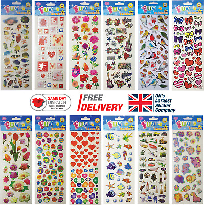 Fun Stickers Children Birthday Party Loot Bag Fillers Kids Decorating Pack G • 1.99£