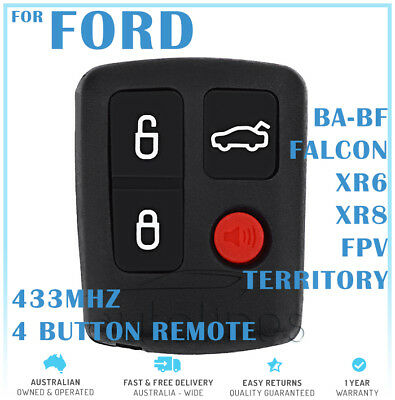 AU21.99 • Buy Ford BA BF Falcon 4 Button Remote Control - High Quality