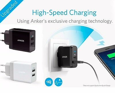 AU49.19 • Buy ANKER PowerPort2 24W/4.8A USB Wall Charger PowerIQ + Micro USB Cable EU Version