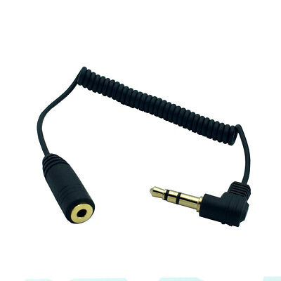 £3.50 • Buy 3.5mm Angled 3 Pole Male To 2.5mm Female Headphone Stereo Audio AUX Coiled Cable
