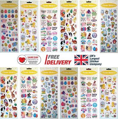 Fun Stickers Easter Children Birthday Party Loot Bag Fillers Kids Decorating • 1.99£