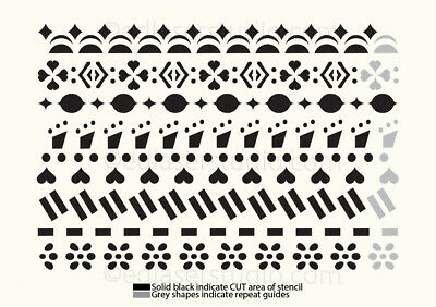 Border Lace Stencil Template Wedding Cake Paint Furniture Card Making TE150 • 8.49£