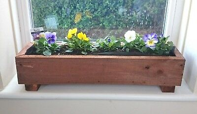 Rustic Wooden Planter Window Box Herb Garden House Plant Pot Handmade  • 13.95£