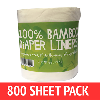 AU39 • Buy 800 X BAMBOO Liners Nappy Insert Cloth Biodegradable NATURAL Liners