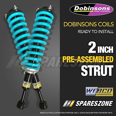 AU490 • Buy Complete Struts Assembly Front Lift Kit Dobinsons Coil For Navara D40 05-ON