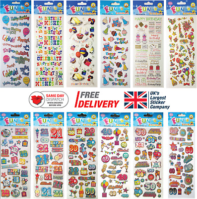 £1.99 • Buy Fun Stickers Birthday Children Birthday Party Loot Bag Fillers Kids Decorating