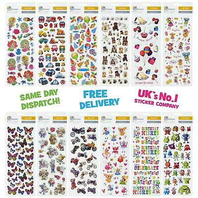 £1.99 • Buy Fun Stickers Animals Children Birthday Party Loot Bag Fillers Kids Decorating
