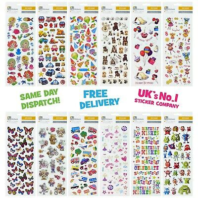 Fun Stickers Animals Children Birthday Party Loot Bag Fillers Kids Decorating • 1.99£