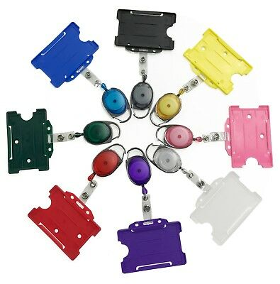 Yo Yo Retractable ID Badge Reels With Matching Open Faced ID Card Holder Lot • 2.50£